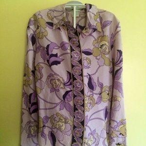 """Lavender floral """"Pucci"""" type blouse"""